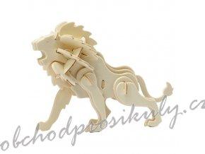 3D dřevěný model lev