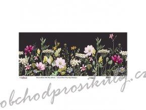 ryzovy papir cadence v roli 30x68 cm rozkvetla louka cerny podklad