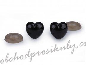 Bezpečnostní čumák srdce 12x13 mm, 5kusů