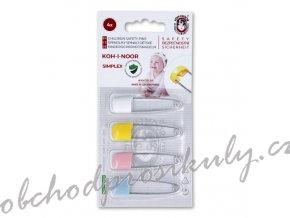 Špendlík zavírací nerez SIMPLEX dětský bezpečnostní 52x1,1mm assort barev 4ks/kar.