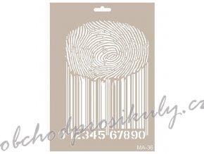 sablona cadence 25x30 cm carovy kod