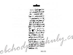 sablona cadence 25x10 cm pismo