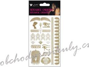 Tetovací obtisky zlaté a stříbrné 15x9 cm 1133