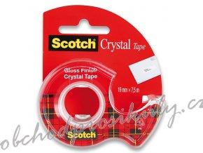 Samolepicí páska 3M Scotch Crystal - 19 mm x 7,5 m