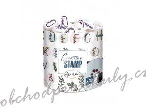razitka creative stamps kvetinova abeceda a venecky