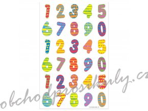 Etikety číslice barevné