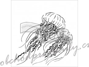 sablona 12 x12 30 5 x 30 5 cm jellyfish