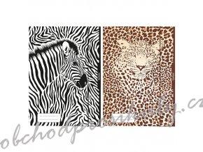 Herlitz - Desky s gumou A3, 3 chlopně, Animal Print