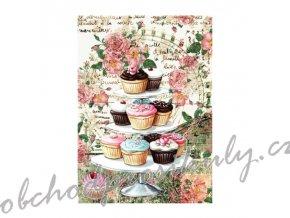 ryzovy papir a4 cupcakes
