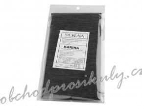 Netkaná textilie 90x100cm nažehlovací prošitá šedá KARINA 350332