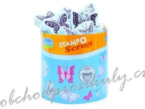 sada razítek StampoScrap, motýlci