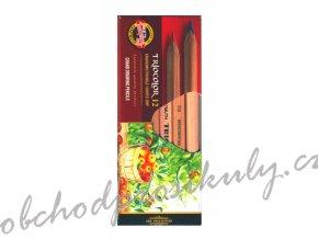 Trojhranné pastelky TRIOCOLOR, silné, ve dřevě v přírodní barvě