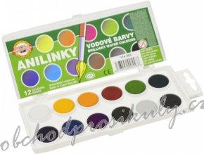 vodove barvy brilantni anilinky 12 odstinu original
