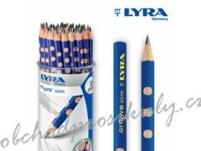 Grafitová tužka LYRA GROOVE SLIM, trojboká tužka, tvrdost HB
