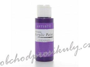 Akrylová barva tmavá fialová 59ml