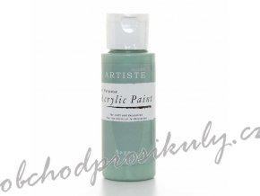 Akrylová barva zelenobílá 59ml