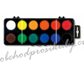 vodove barvy velke 12 odstinu prumer 30 mm original