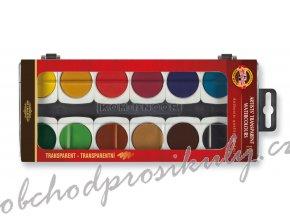 Barvy vodové umělecké transparentní, 12 barev