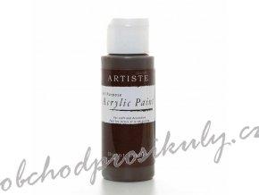 Akrylová barva tmavě hnědá 59ml
