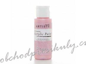 Akrylová barva perleťově růžová 59ml