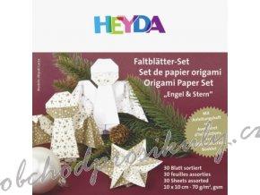Papíry na Origami vánoční, 10x10cm, 33ks, 70g