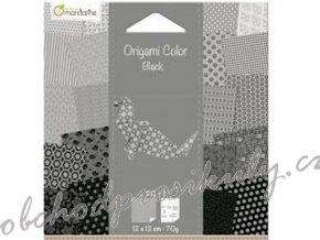 Papíry na Origami bílo-černé, 12x12cm, 20ks, dárkové balení
