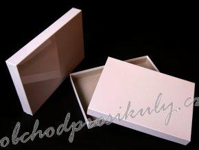 Kašírovaná krabice bílá, 31x22x2cm