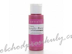 Akrylová barva metalická růžová 59ml