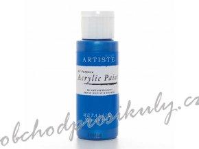 Akrylová barva metalická modrá 59ml