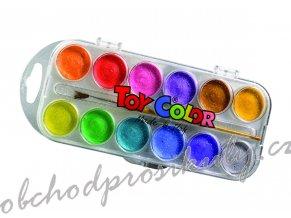 Vodové barvy perleťové 12 barev
