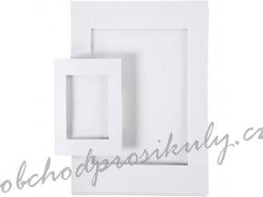 Pasparta papírová bílá A4, A6 (1+1ks)