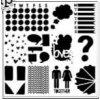 """Šablona 6""""x6"""" , Stencil Life Tidbits, mini"""