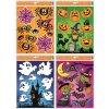 Okenní fólie s glitrem 42x30 cm, Halloween, čtyři motivy