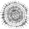 sablona 6 x6 floral eclipse mini