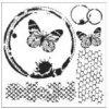 sablona 12 x12 30 5 x 30 5 cm butterfly collage