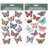 Samolepicí motýli dvouvrství s glitry 13x19 cm