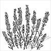 sablona 12 x12 30 5 x 30 5 cm lavender
