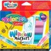Popisovače na sklo Colorino - křídové - 5 barev