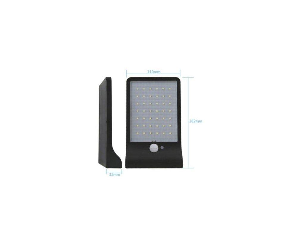 LED svítidlo 20W se solárním panelem, pohybovým čidlem a čidlem setmění LED SENTOUR JD1920
