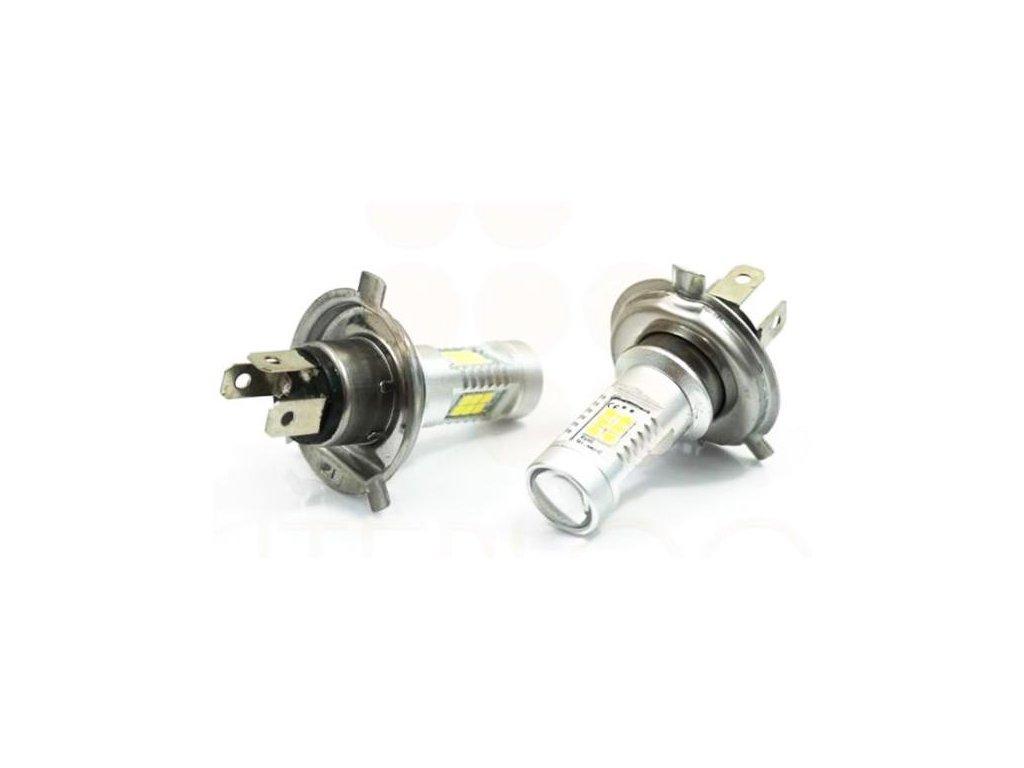 Sada dvou LED žárovek 6W do auta s paticí H4, SMD čip 3030, 800lm LED H4-2x 21