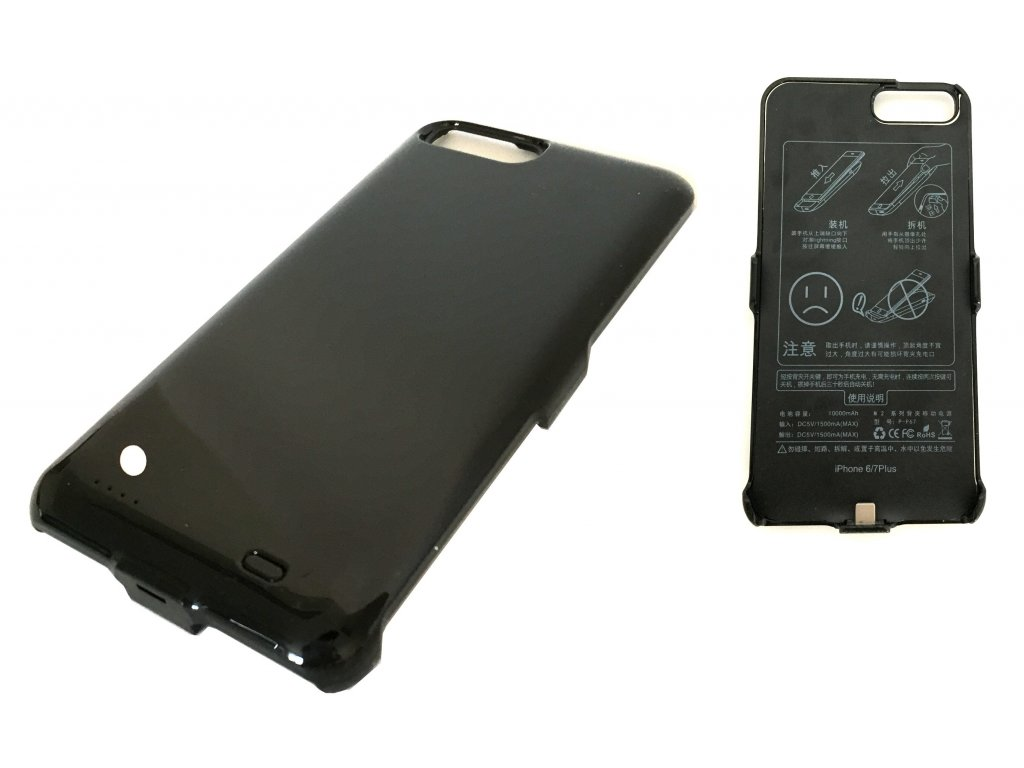 7593 nabijeci kryt powerbanka 10000mah pro iphone 6 plus 7 plus cerna