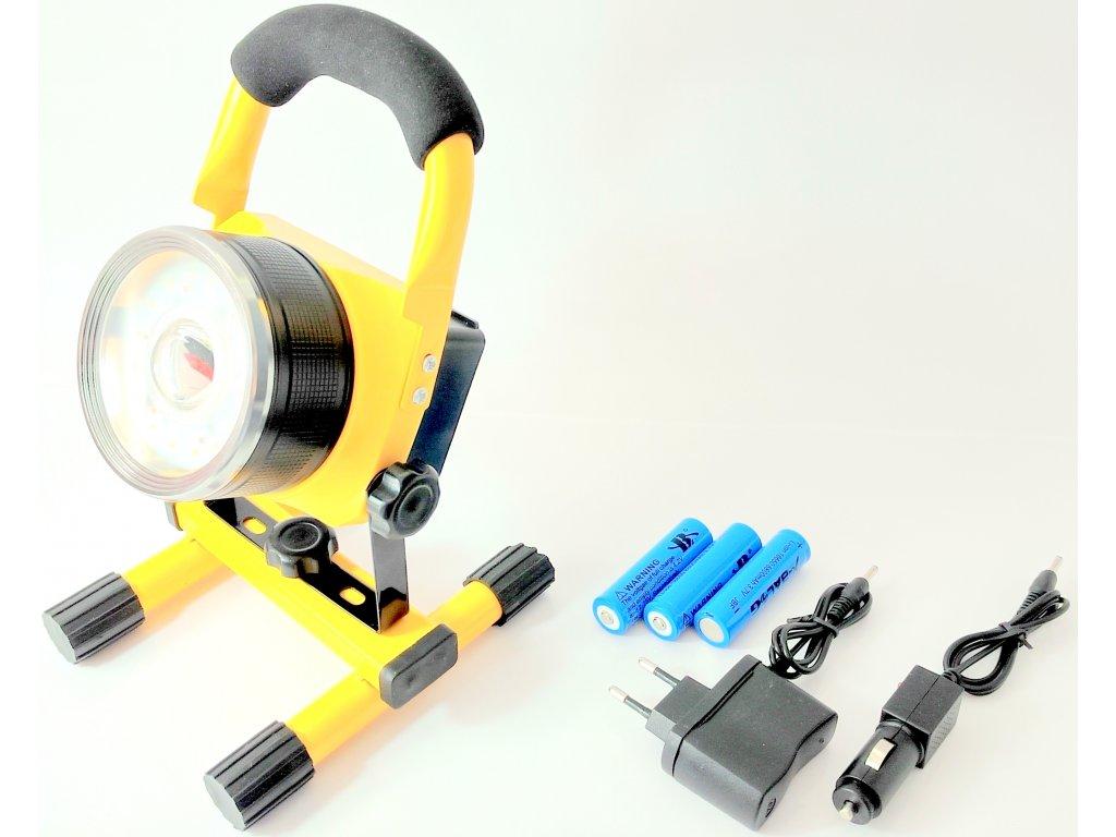 Nabíjecí reflektor 30w s možností výstražného svitu