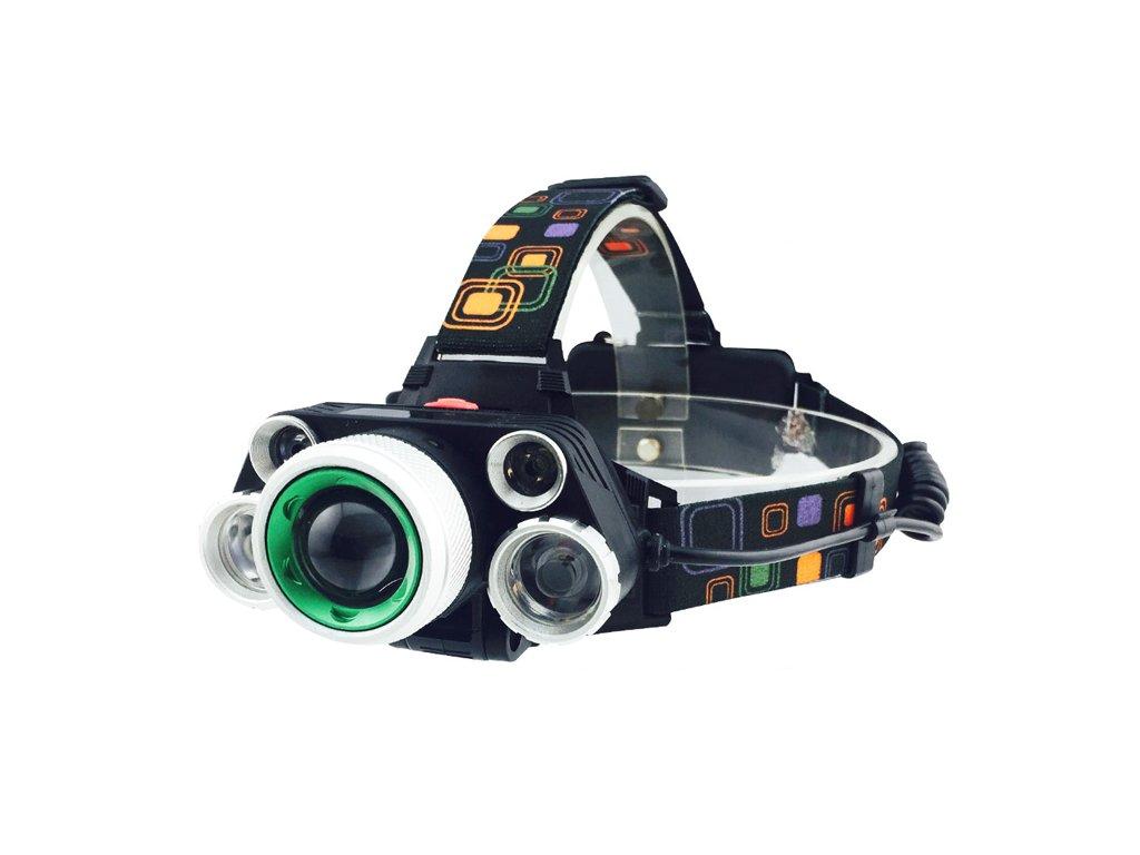 Nabíjecí čelovka 5x LED se zoom