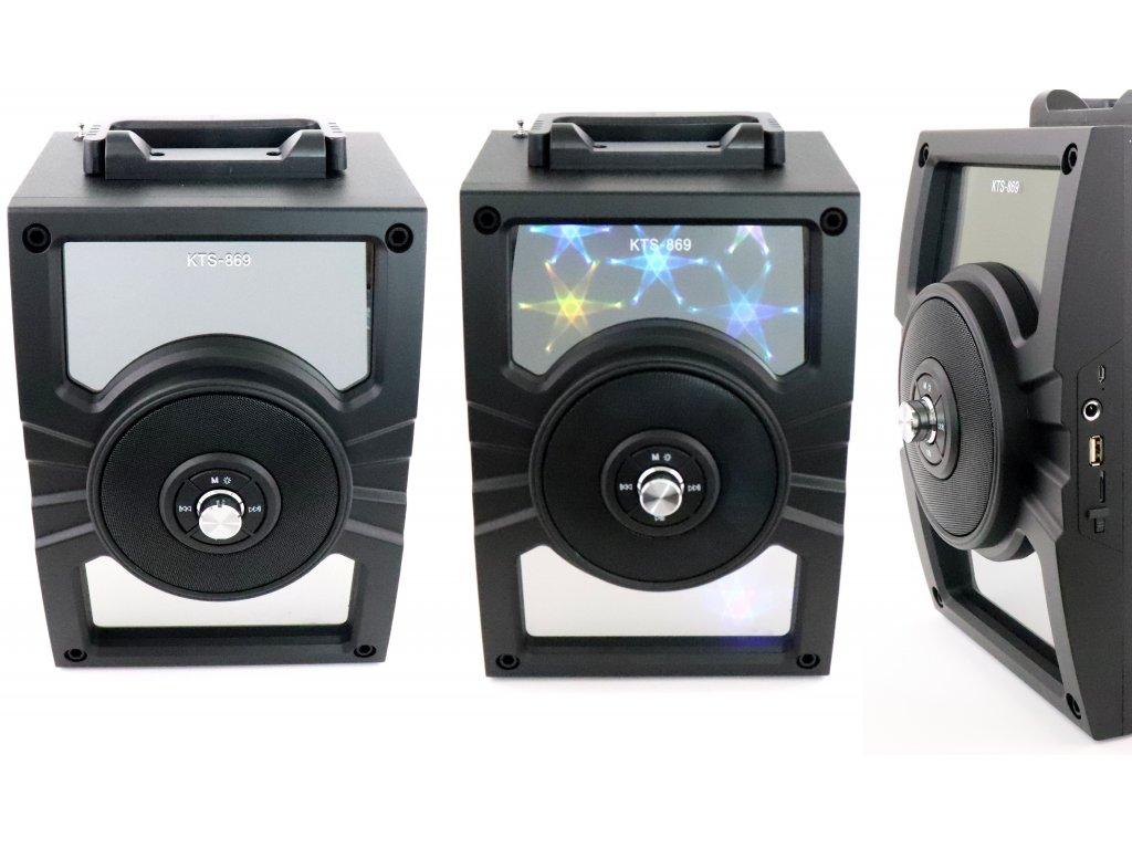 Velký, bezdrátový, bluetooth reproduktor s LED efekty