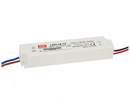 18W elektronický 12V zdroj venkovní IP67 MEANWELL LPH 18-12