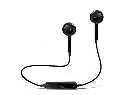 Bezdrátová, sportovní bluetooth sluchátka ve stylu iPhone - Černá