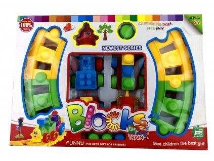 Vláček stavebnice pro děti 45ks