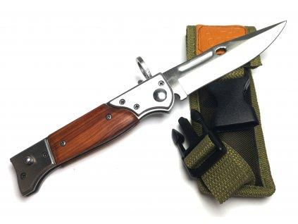 Vystřelovací nůž AK-47 s dřevěným obložením 22 cm
