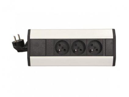 Rohový 3 zásuvkový modul, kabel 1,8m ORNO AE 1359