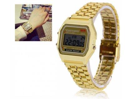 6054 5 digitalni hodinky wr zlata
